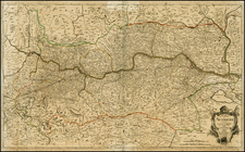 Austria, Hungary and Germany Map By George Louis Le Rouge