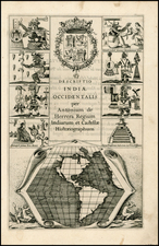 North America, South America, Title Pages, California and America Map By Antonio de Herrera y Tordesillas