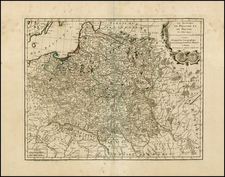 Germany, Poland, Russia and Baltic Countries Map By Jean-Francois Daumont