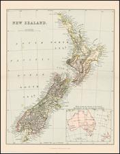 New Zealand Map By Alexander MacKenzie
