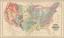 United States Map By O.W. Gray & Son