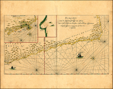 South Africa and African Islands, including Madagascar Map By Pieter Goos