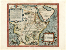 Africa, North Africa, East Africa and West Africa Map By Abraham Ortelius