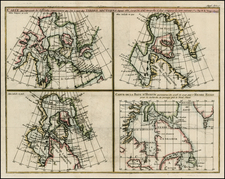 Polar Maps and Canada Map By Denis Diderot / Didier Robert de Vaugondy