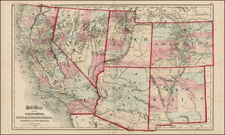 Southwest, Rocky Mountains and California Map By O.W. Gray