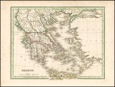 Greece Map By Thomas Gamaliel Bradford