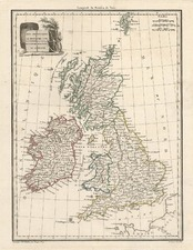 Europe and British Isles Map By Conrad Malte-Brun