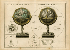 World, World, Curiosities and Celestial Maps Map By George Louis Le Rouge