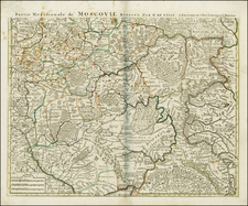 Russia and Ukraine Map By Johannes Covens  &  Cornelis Mortier
