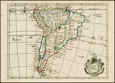 South America Map By George Louis Le Rouge