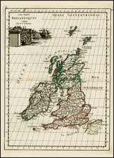 British Isles Map By George Louis Le Rouge
