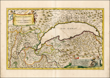 Switzerland and France Map By Johannes et Cornelis Blaeu
