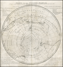 Southern Hemisphere, Polar Maps, South America, Australia & Oceania and Pacific Map By Georg Forster