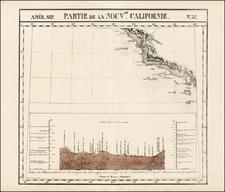 California Map By Philippe Marie Vandermaelen