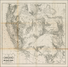 Southwest, Rocky Mountains and California Map By John Charles Fremont
