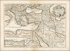 Greece, Turkey, Mediterranean, Balearic Islands, Central Asia & Caucasus, Middle East, Holy Land and Turkey & Asia Minor Map By Pierre Du Val
