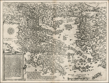 Balkans, Turkey, Mediterranean, Turkey & Asia Minor, Balearic Islands and Greece Map By Cornelis de Jode