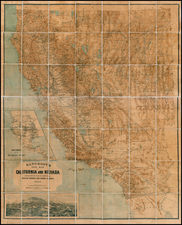 Southwest and California Map By A.L. Bancroft & Co.
