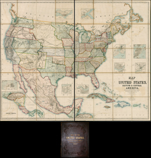United States Map By Henry Darwin Rogers  &  Alexander Keith Johnston
