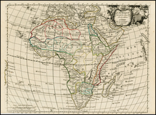 Africa Map By Georges Louis Le Rouge