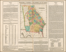 Southeast Map By Henry Charles Carey  &  Isaac Lea