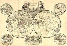 World, World, Northern Hemisphere, Southern Hemisphere and Polar Maps Map By Conrad Malte-Brun