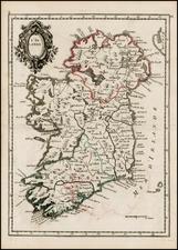 Ireland Map By Georges Louis Le Rouge