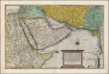 Central Asia & Caucasus, Middle East, Holy Land and Egypt Map By Cornelis de Jode