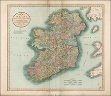 Ireland Map By John Cary