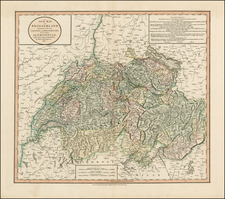 Switzerland Map By John Cary