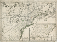 United States, New England, Mid-Atlantic, Southeast, Midwest and Canada Map By Pierre-Nicolas Buret de  Longchamps