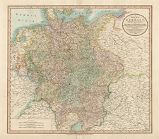 Germany, Austria, Czech Republic & Slovakia and Baltic Countries Map By John Cary