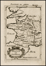 France Map By Alain Manesson Mallet
