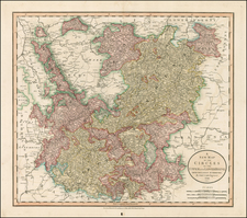 Austria, Czech Republic & Slovakia, Baltic Countries and Germany Map By John Cary