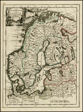 Scandinavia Map By George Louis Le Rouge