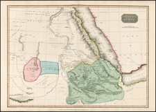 Middle East, North Africa and East Africa Map By John Pinkerton