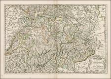 Switzerland Map By Nicolas Sanson