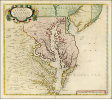Mid-Atlantic and Southeast Map By John Senex