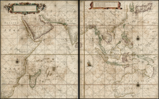 China, Japan, India, Southeast Asia, Philippines, Other Islands, Central Asia & Caucasus, Middle East, East Africa, African Islands, including Madagascar, Australia and Oceania Map By Hendrick Doncker