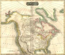 North America and Canada Map By John Thomson