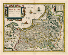 Germany, Poland and Baltic Countries Map By Willem Janszoon Blaeu