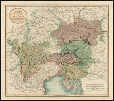 Austria and Balkans Map By John Cary