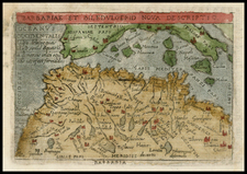 Mediterranean, Balearic Islands and North Africa Map By Abraham Ortelius / Philippe Galle