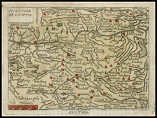 Austria and Hungary Map By Abraham Ortelius / Philippe Galle