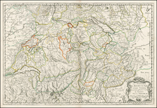 Switzerland and Italy Map By Nicolas Sanson