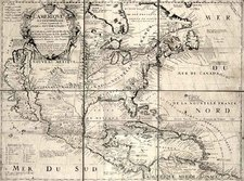 North America and California Map By Jean-Baptiste Nolin