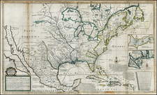 United States and North America Map By George Grierson