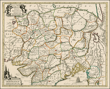 India and Central Asia & Caucasus Map By Johannes Covens  &  Cornelis Mortier