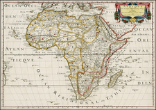Africa and Africa Map By Nicolas Sanson