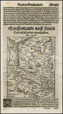 Greece and Balearic Islands Map By Sebastian Munster